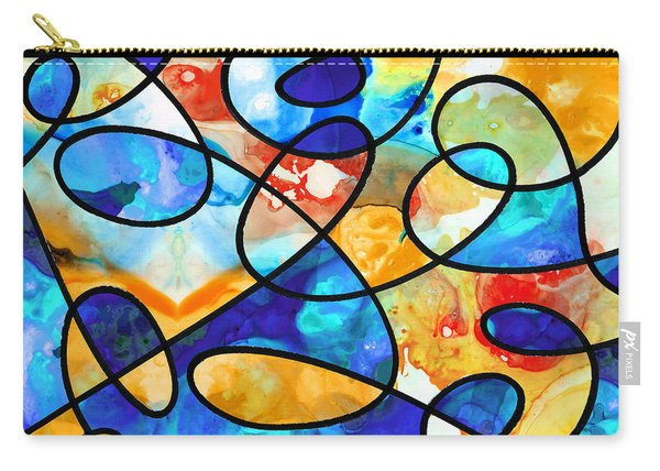 Colorful Art - Line Dance 1 - Sharon Cummings Carry-all Pouch