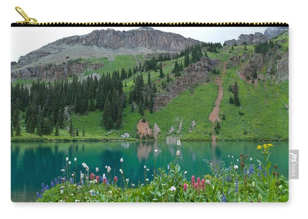 Colorful Blue Lakes Landscape Carry-all Pouch