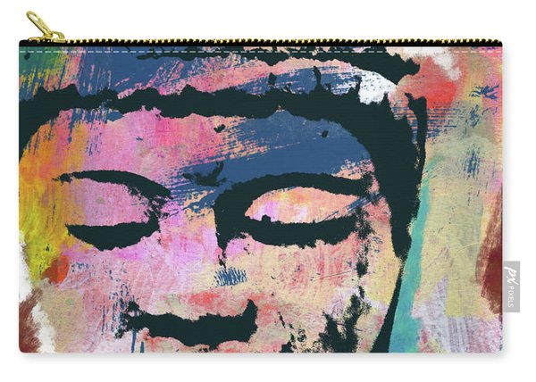 Colorful Buddha 1- Art By Linda Woods Carry-all Pouch