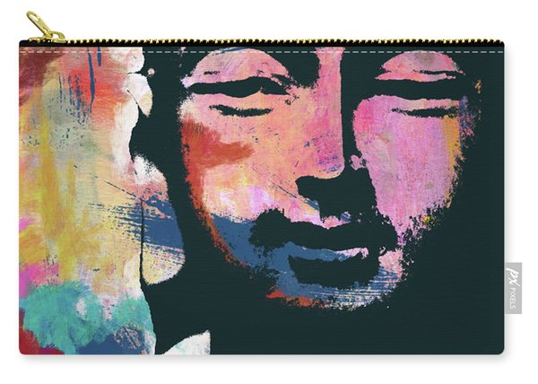 Colorful Buddha 2- Art By Linda Woods Carry-all Pouch