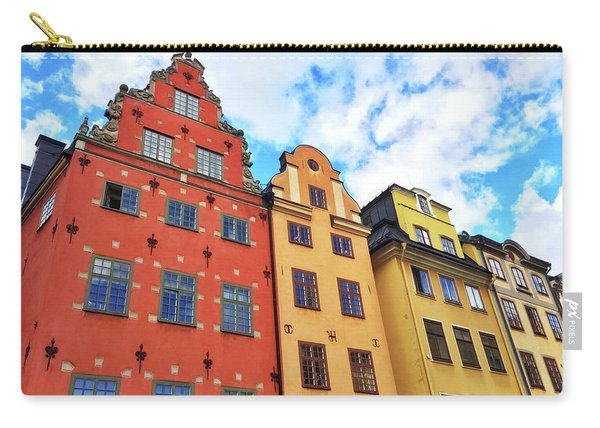 Colorful Buildings In Gamla Stan, Stockholm Carry-all Pouch