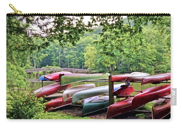 Colorful Canoes At Hungry Mother State Park Carry-all Pouch