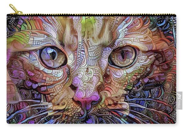 Colorful Cat Art Carry-all Pouch