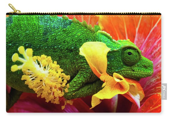 Colorful Chameleon Carry-all Pouch