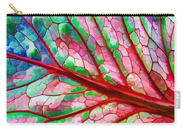 Colorful Coleus Abstract 5 Carry-all Pouch