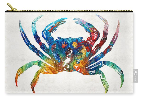 Colorful Crab Art By Sharon Cummings Carry-all Pouch