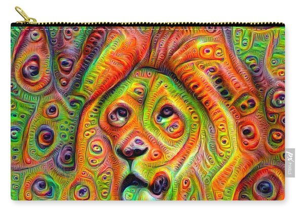 Colorful Crazy Lion Deep Dream Carry-all Pouch