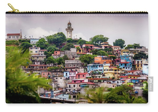 Colorful Houses On The Hill Carry-all Pouch
