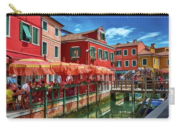 Colorful Day In Burano Carry-all Pouch