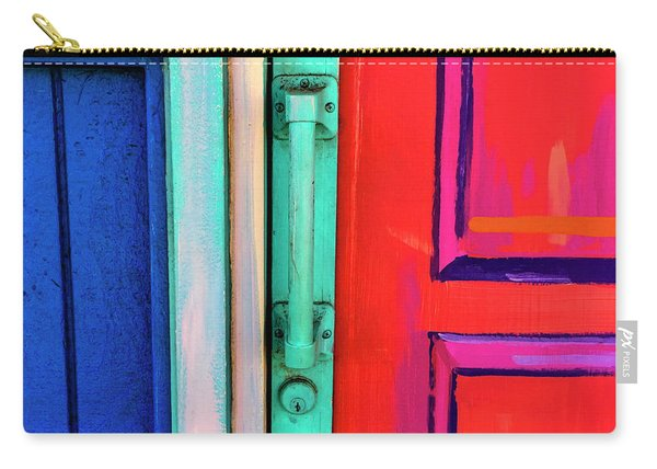 Colorful Doors Real And Otherwise Carry-all Pouch