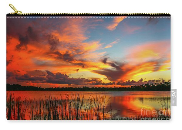 Carry-all Pouch featuring the photograph Colorful Fort Pierce Sunset by Tom Claud