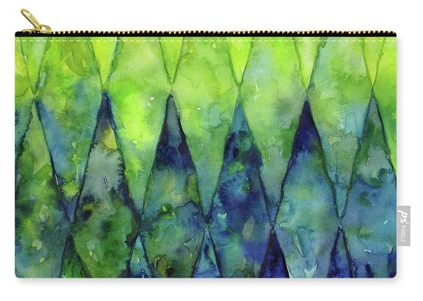 Colorful Geometric Pattern Watercolor  Carry-all Pouch