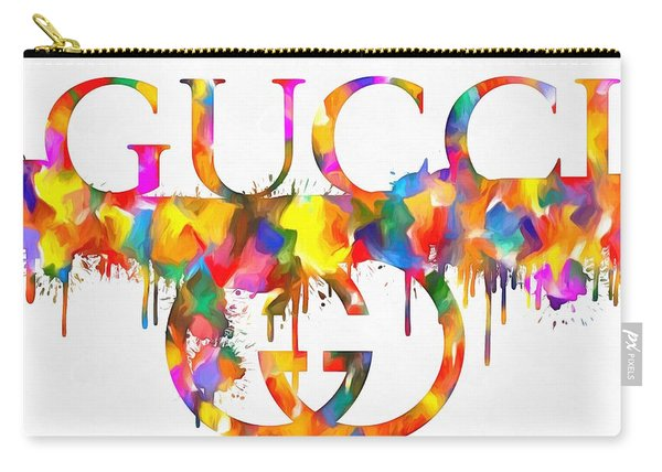 Colorful Gucci Paint Splatter Carry-all Pouch