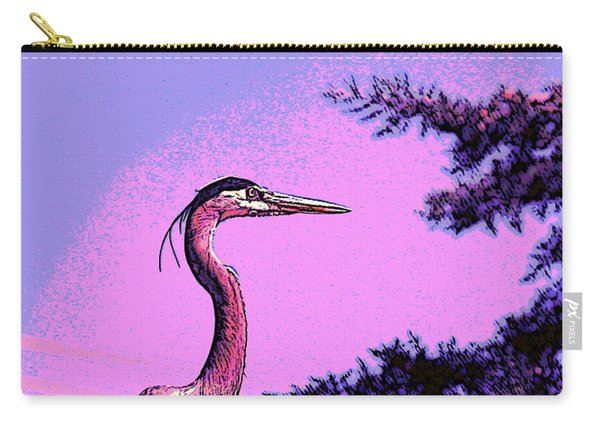 Colorful Heron Carry-all Pouch