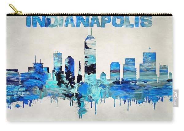 Colorful Indianapolis Skyline Silhouette Carry-all Pouch