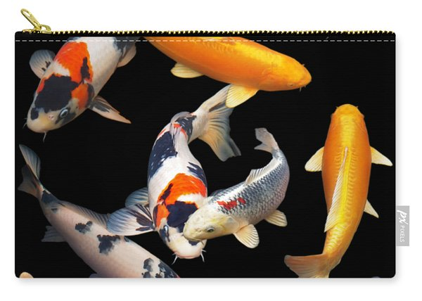 Colorful Japanese Koi Vertical Carry-all Pouch
