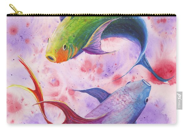 Colorful Koi Carry-all Pouch