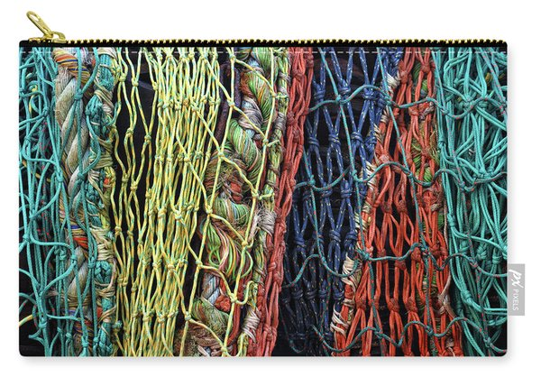 Colorful Layers Of Fishing Nets Carry-all Pouch