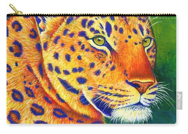 Colorful Leopard Portrait Carry-all Pouch