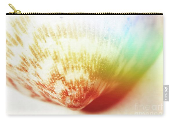 Colorful Light Flare Over Seashell Carry-all Pouch