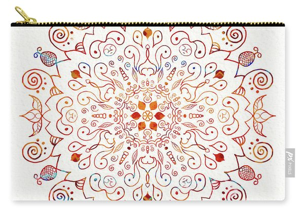 Colorful Mandala On Watercolor Paper Carry-all Pouch