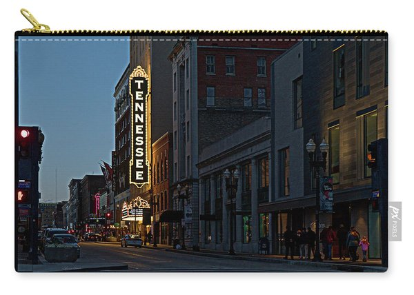 Colorful Night On Gay Street Carry-all Pouch
