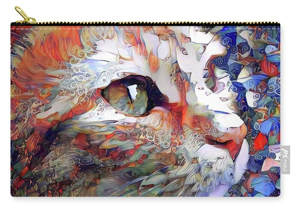 Colorful Orange Cat Art Carry-all Pouch