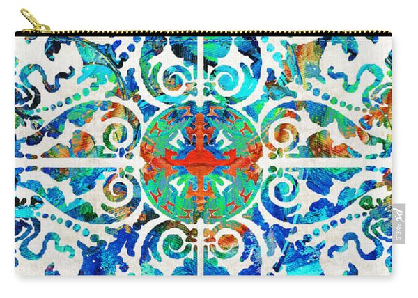 Colorful Pattern Art - Color Fusion Design 5 By Sharon Cummings Carry-all Pouch