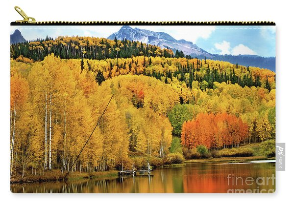 Carry-all Pouch featuring the photograph Colorful Peaceful Colorado by Susan Warren