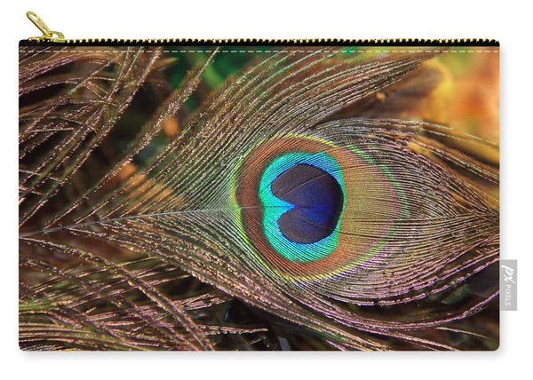 Colorful Peacock Feather Carry-all Pouch