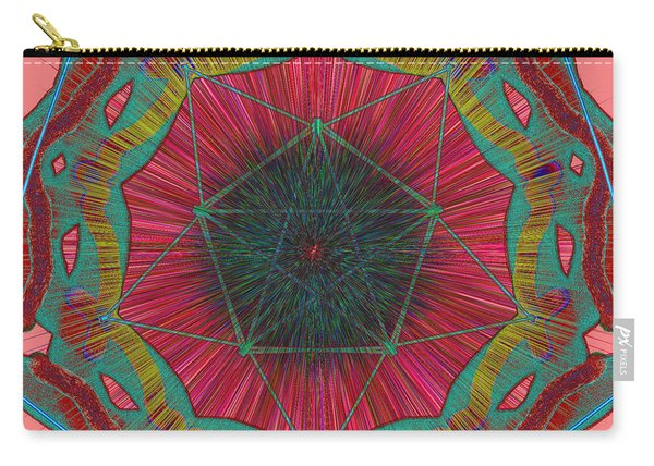Colorful Pentagonal Abstract Carry-all Pouch