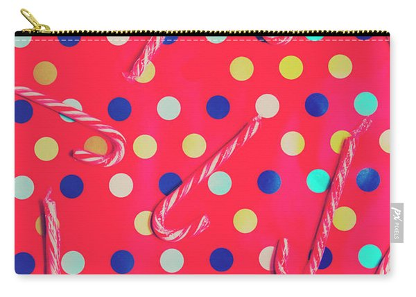 Colorful Pepermint Candy Canes Carry-all Pouch