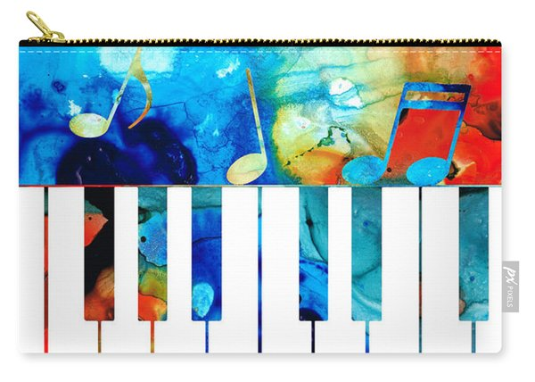 Colorful Piano Art By Sharon Cummings Carry-all Pouch