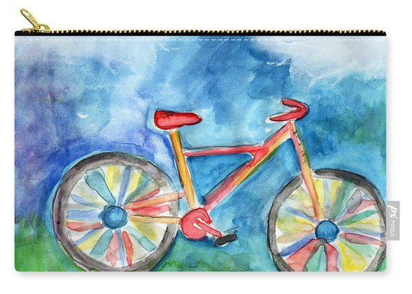 Colorful Ride- Bike Art By Linda Woods Carry-all Pouch