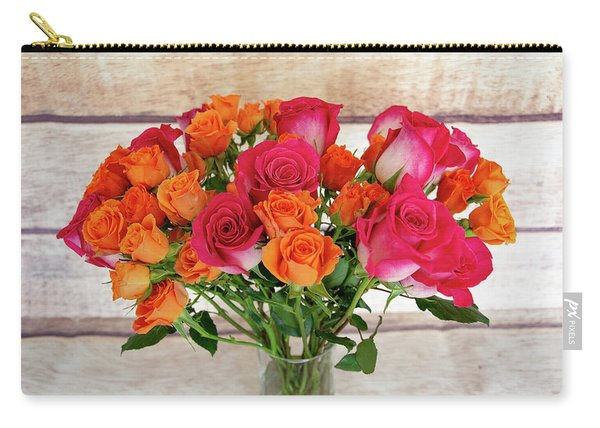 Colorful Rose Bouquet Carry-all Pouch