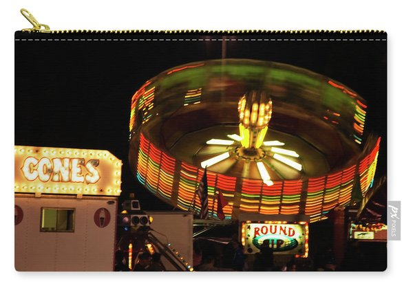 Colorful Round Up Wheel Carry-all Pouch