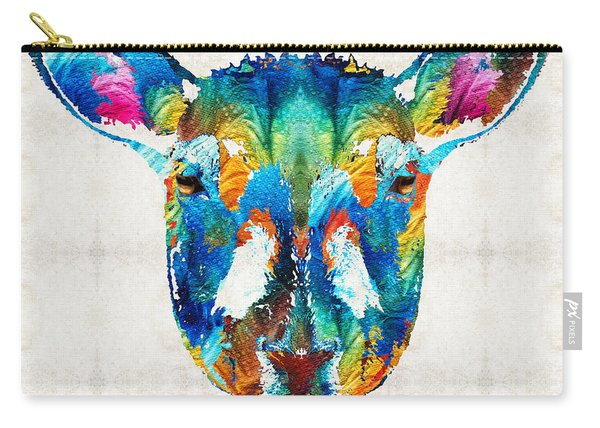 Colorful Sheep Art - Shear Color - By Sharon Cummings Carry-all Pouch