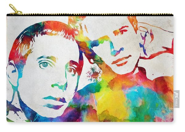 Colorful Simon And Garfunkel Carry-all Pouch