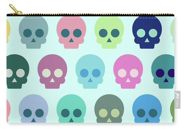 Colorful Skull Cute Pattern Carry-all Pouch
