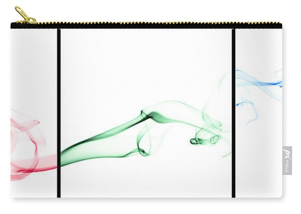 Colorful Smoke II - Rgb Triptych Carry-all Pouch