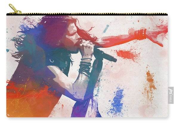 Colorful Steven Tyler Paint Splatter Carry-all Pouch