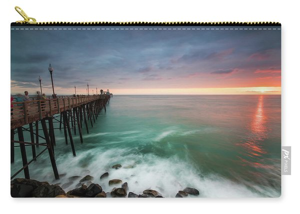 Colorful Sunset At The Oceanside Pier Carry-all Pouch