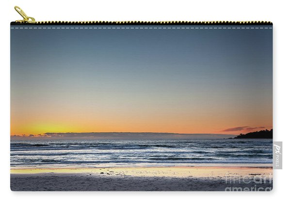 Colorful Sunset Over A Desserted Beach Carry-all Pouch