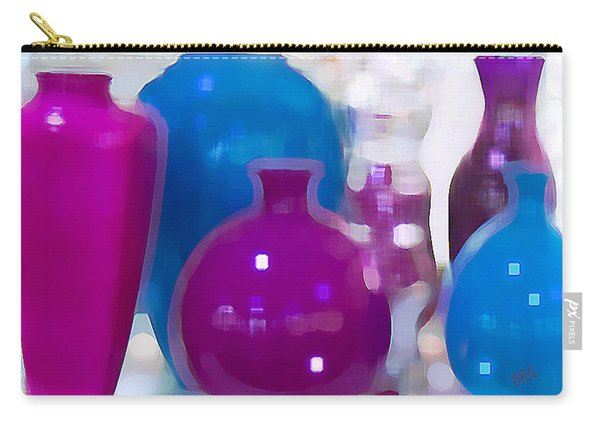 Colorful Vases II - Still Life Carry-all Pouch