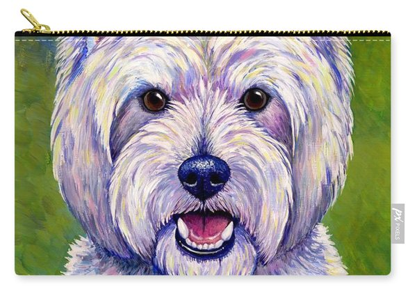 Colorful West Highland White Terrier Dog Carry-all Pouch