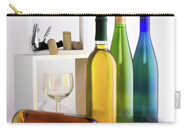 Colorful Wine Bottles Carry-all Pouch
