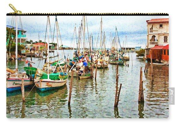 Colors Of Belize - Digital Paint Carry-all Pouch