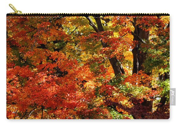 Carry-all Pouch featuring the photograph Colors Of Fall by William Selander