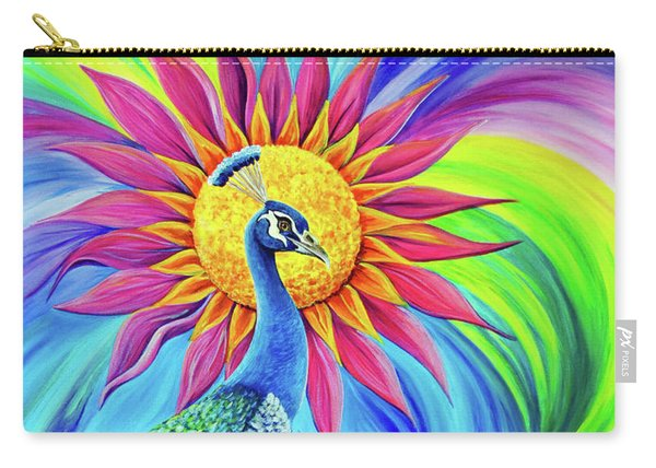 Carry-all Pouch featuring the painting Colors Of His Splendor by Nancy Cupp
