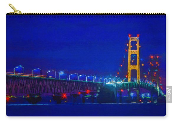 Colors Of Mackinac At Dusk Carry-all Pouch